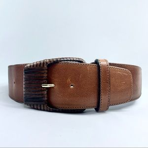 Axcess Genuine Leather Belt Made in Italy Size S